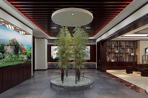 河北辦公室新古典中式裝修——清雅舒適,古韻芬芳
