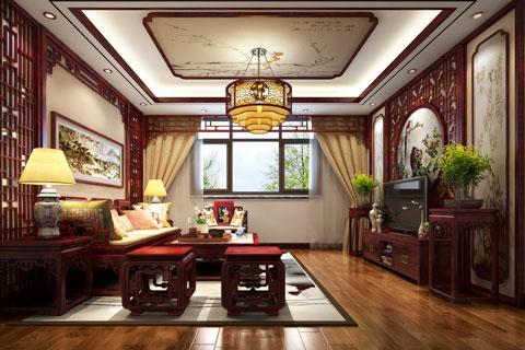 湖北荊州精品住宅古典中式裝修,至醇至厚的奢華古風