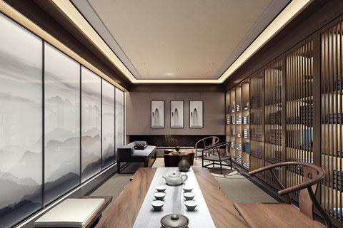 亞運村新中式風格茶樓設計 問君何能爾 心愿地自偏