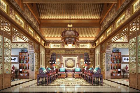 山西運城某客戶古典風格四合院中式設計案例欣賞