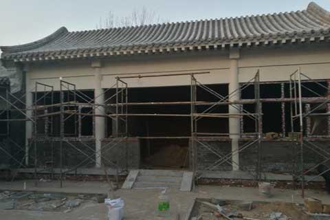 北京大興老房改造四合院自建施工現場