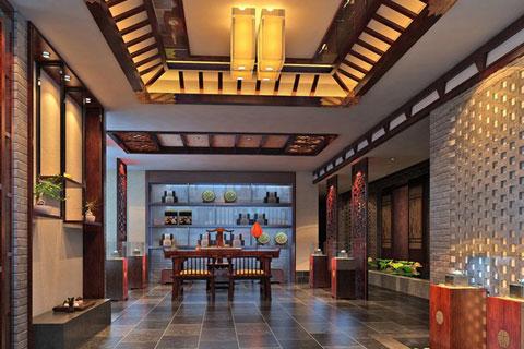 中式風格茶樓設計,大氣華貴充滿文化氣息