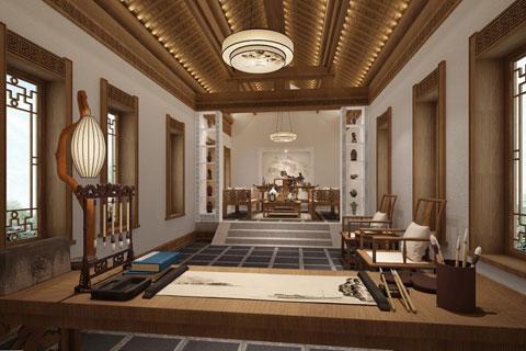 中華百園別墅新中式風格,清幽簡凈古樸高雅