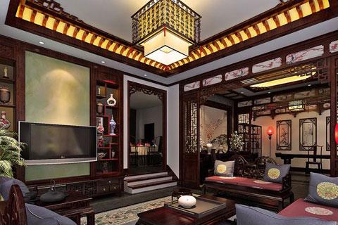 中式別墅四合院設計案例,整套效果古樸典雅