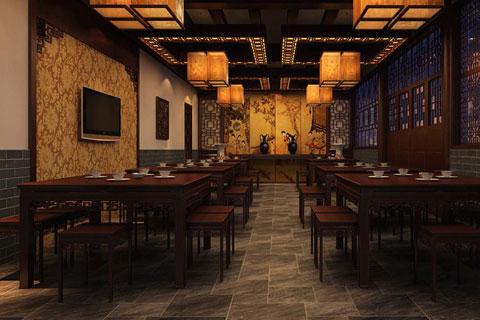 平遙中式酒店裝修效果圖,滲透著濃濃的古韻
