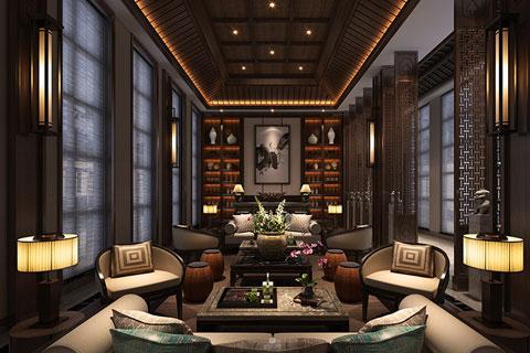 重慶酒店餐廳新中式裝修風格——低沉奢華,紙醉金迷