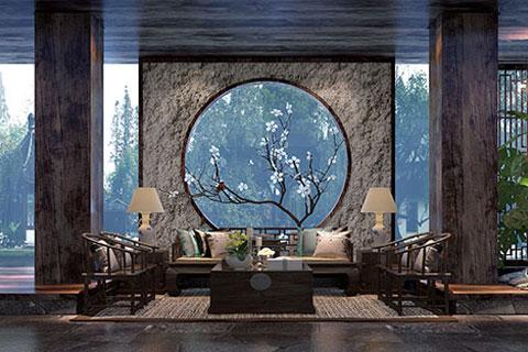 北京禪意中式酒店裝修設計,以禪作為文化提供冥想空間
