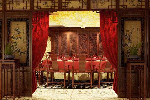 古典風格的政法委包間裝修,高端豪華優雅大氣