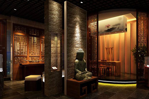 前門展廳中式裝修設計,讓傳統文化蘊涵優雅