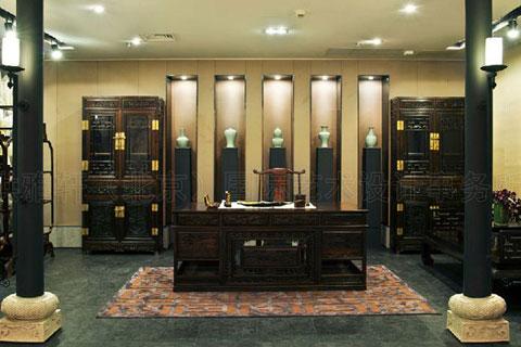 中式家具展廳裝修,渲染古典文化的典雅韻味