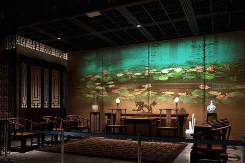 古典風格展廳設計效果圖,感受至清至純的文化氣氛