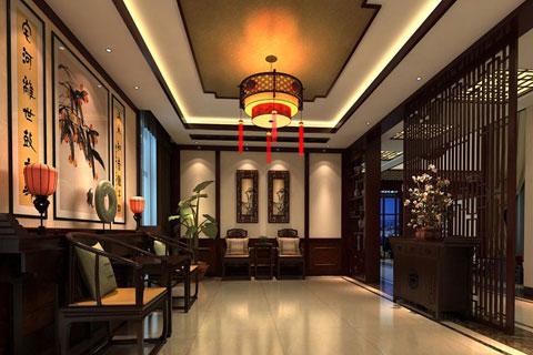 江門別墅中式裝修 裝飾氣氛更顯的沉穩大氣