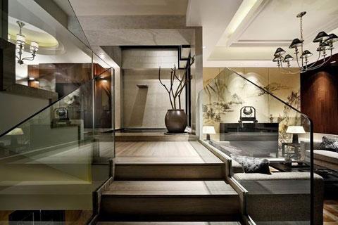 泰禾紅樹林別墅中式裝修,邂逅古典藝術和時尚元素