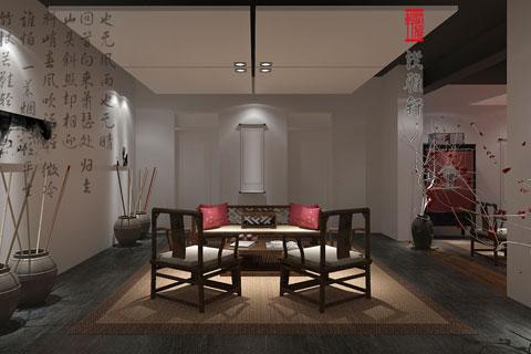 簡約中式風格禪茶室設計——古雅、幽靜,富有禪意風韻