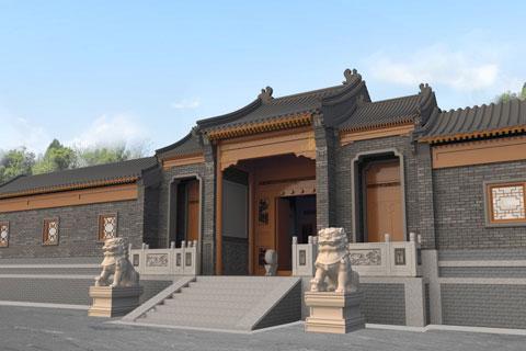 內蒙古窯洞改造為四合院,四合院建筑設計案例